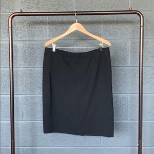 NWT J. Crew Black Bistretch Wool Pencil Skirt